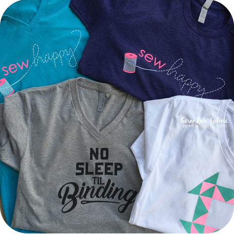 Sew Happy T-Shirt - Crew Neck