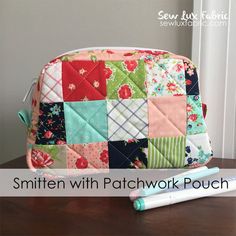 Smitten with Patchwork Pouch - PDF Pattern