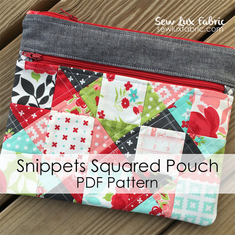 Snippets Squared Pouch Pattern PDF