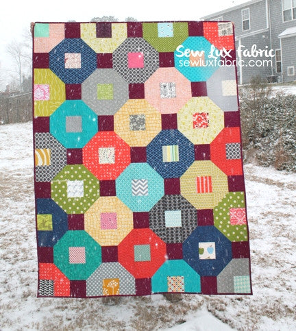 Snow Tires Quilt Pattern - PDF