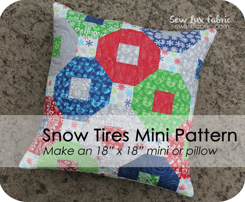 Snow Tires Mini Pattern - PDF