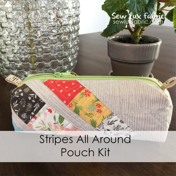Stripes All Around Pouch Kit