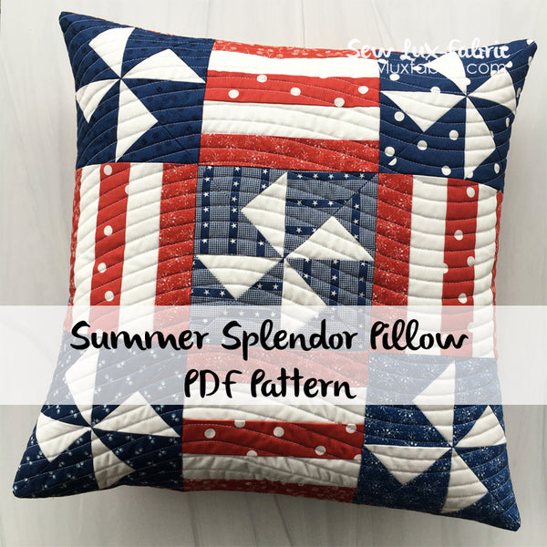 Summer Splendor Pillow PDF Pattern