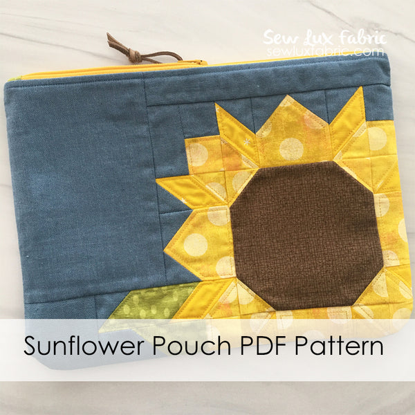 Sunflower Pouch PDF Pattern