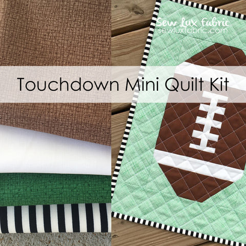 Touchdown Mini Quilt Fabric Kit - Home