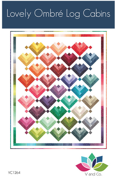 Lovely Ombre Cabins Quilt Pattern - Paper