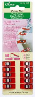 Clover Wonder Clips - 10 ct Red
