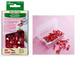 Clover Wonder Clips - 50 ct Red