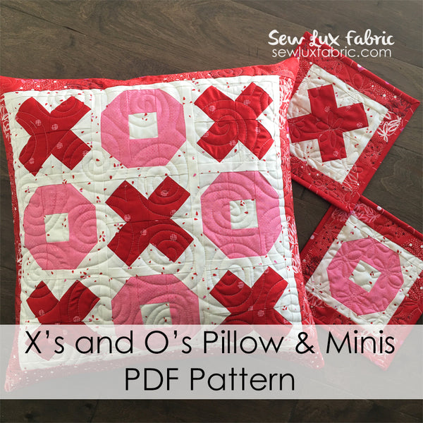 X's and O's Pillow PDF Pattern