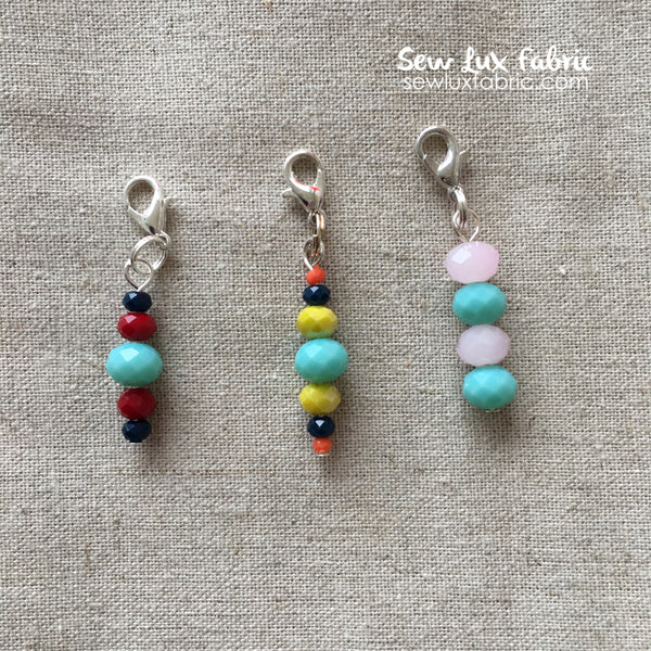 Beaded Zipper Pull - Multi