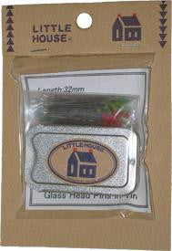 Little House Glass Pins