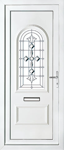 uPVC Door - Rockingham One Ceramic Diamond Star