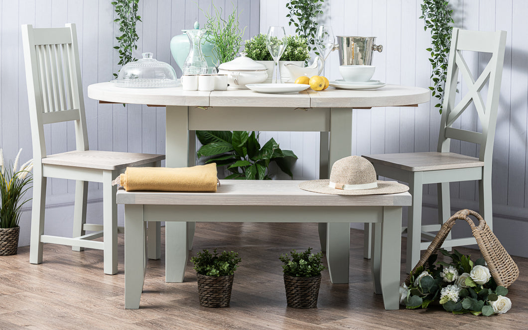 Arran - Round Dining Table 1.1-1.5m Extending (DAM231P)
