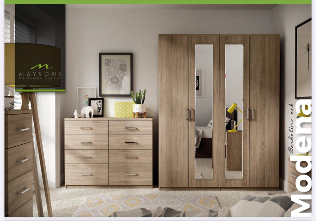 Modena Bedroom Collection - Ferrara Oak