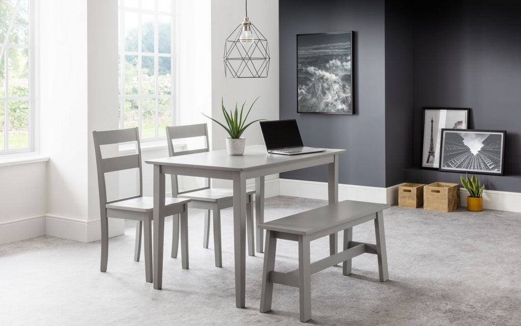 Kobe Dining Set - Table, 2 Chairs & Bench