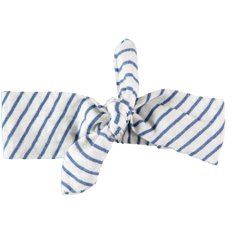 Striped headband blue