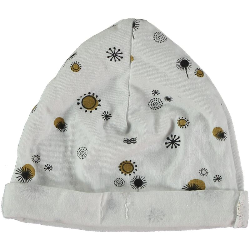Printed newborn cap white