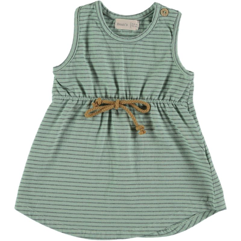 Striped tank Dress seagreen