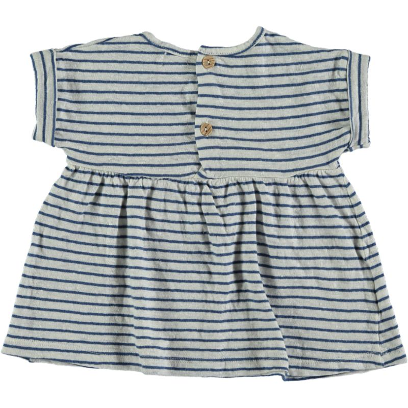Striped linen Dress blue