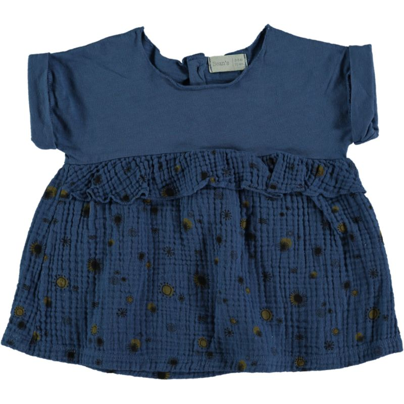 Combi printed Dress blue