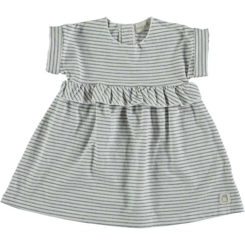 Striped jersey Dress white
