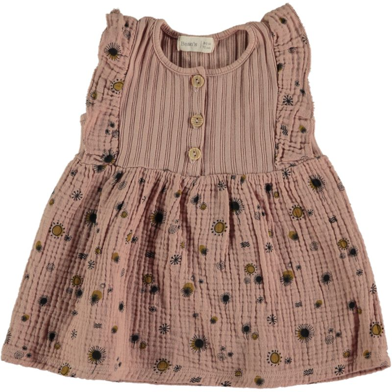 Combi ribbed-bambula Dress pink