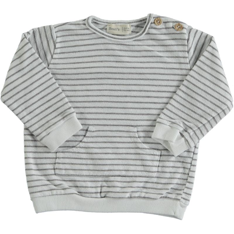 Striped Sweatshirt white