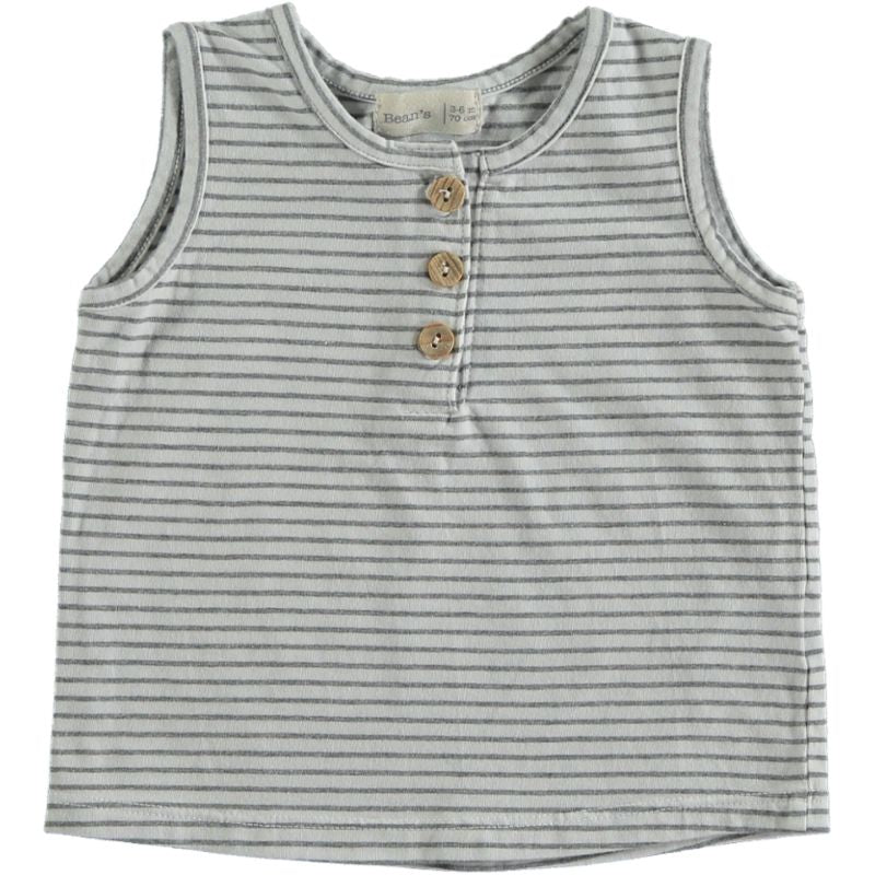 Striped tank T-shirt white