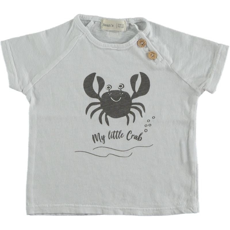 Crab T-shirt white