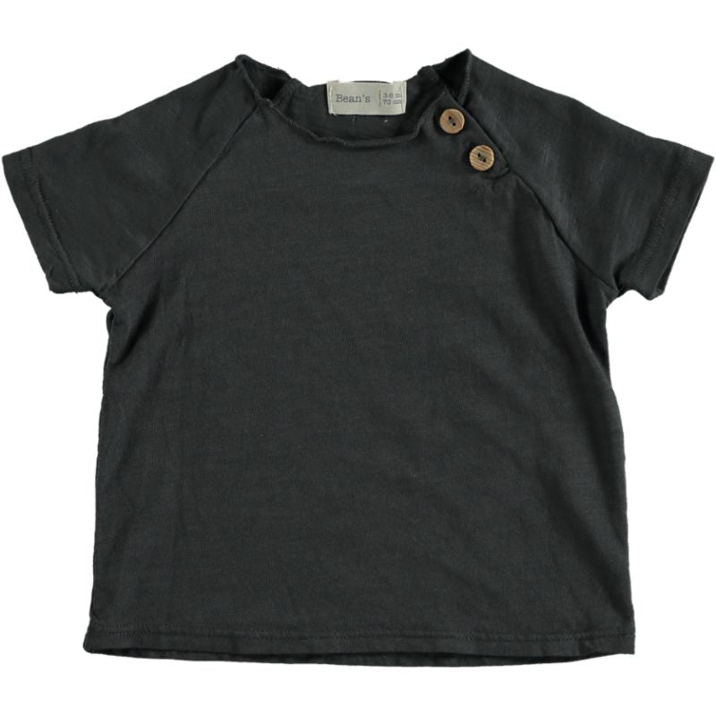Cotton T-shirt anthracite