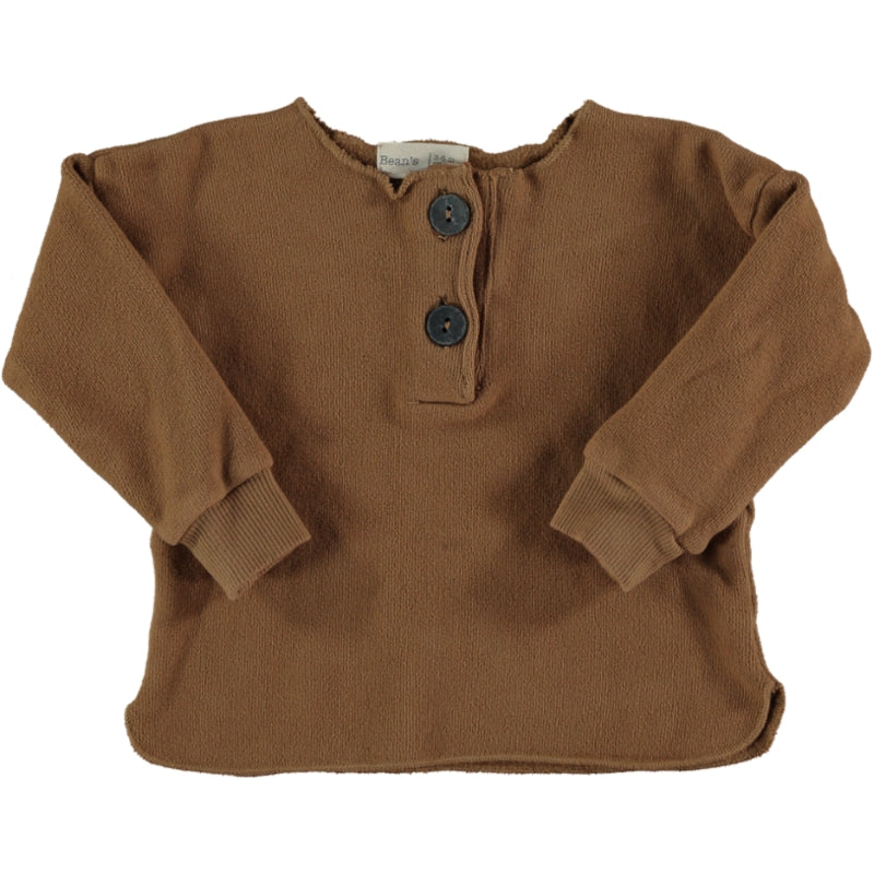 Warm fleece sweater Caramel