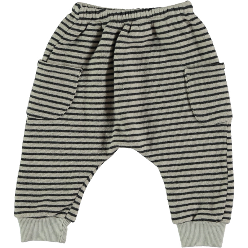 Striped cotton Pants Stone