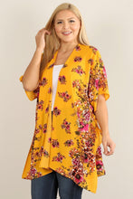 Load image into Gallery viewer, Plus Size Floral Print Kimono