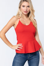Load image into Gallery viewer, V-neck Cami Peplum Knit Top
