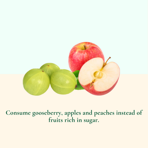 Add fruits like amla, apples, peaches, pears, guava, oranges to your diet