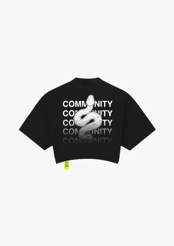 COMMUNITY - BLACK CROPTEE