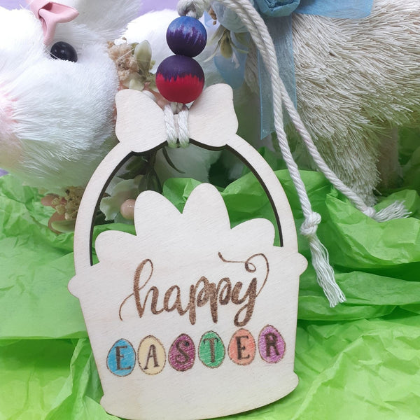Happy Easter Ornament Handmade