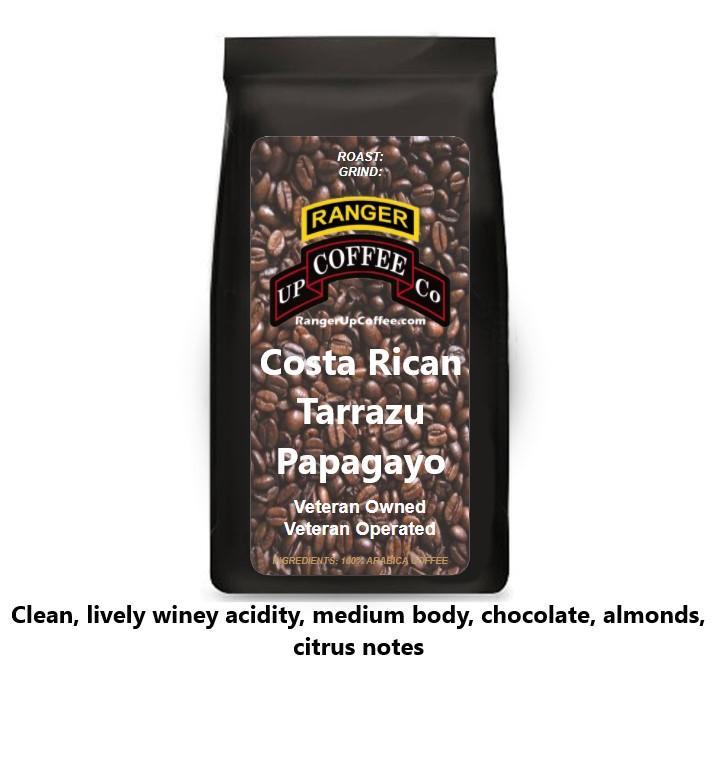 Costa Rican Tarrazu Papagayo Coffee Ranger Up Coffee