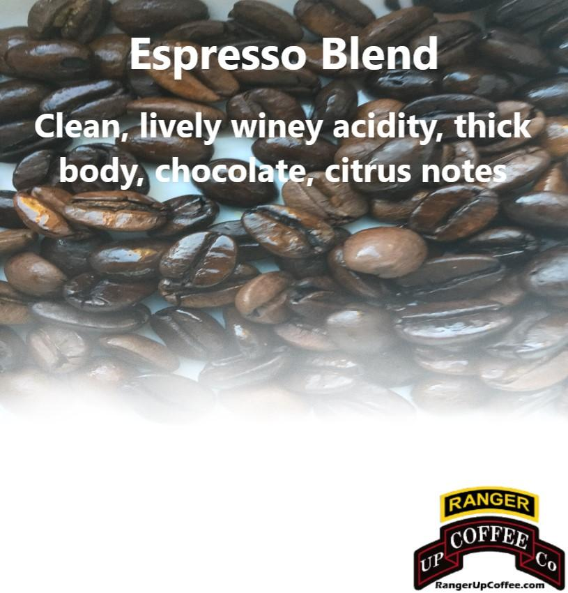 Espresso Blend Coffee Ranger Up Coffee