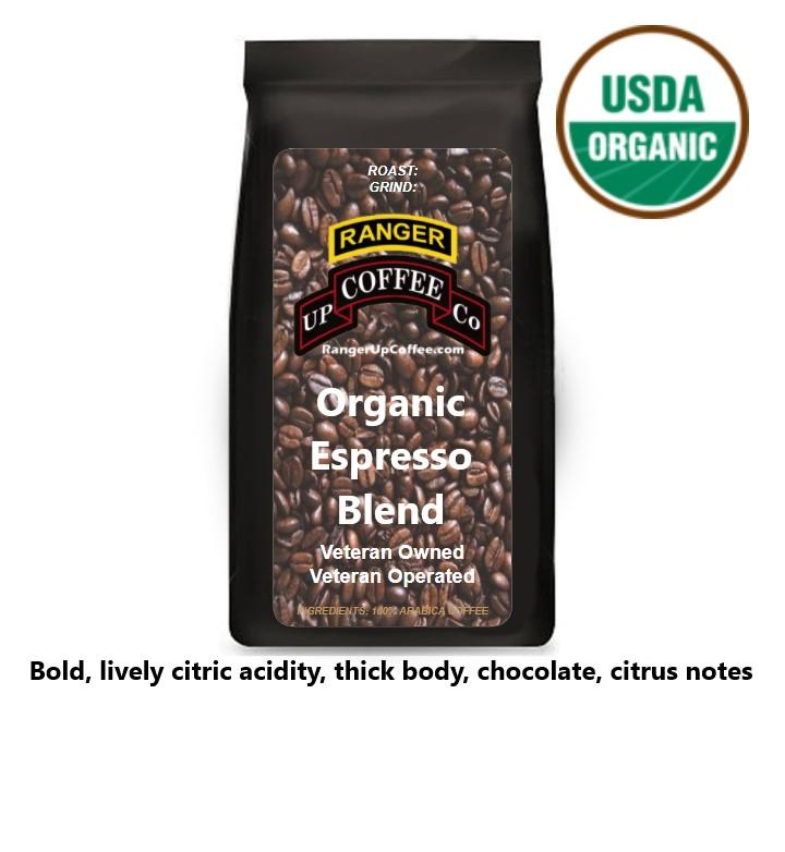Organic Espresso Blend Coffee Ranger Up Coffee