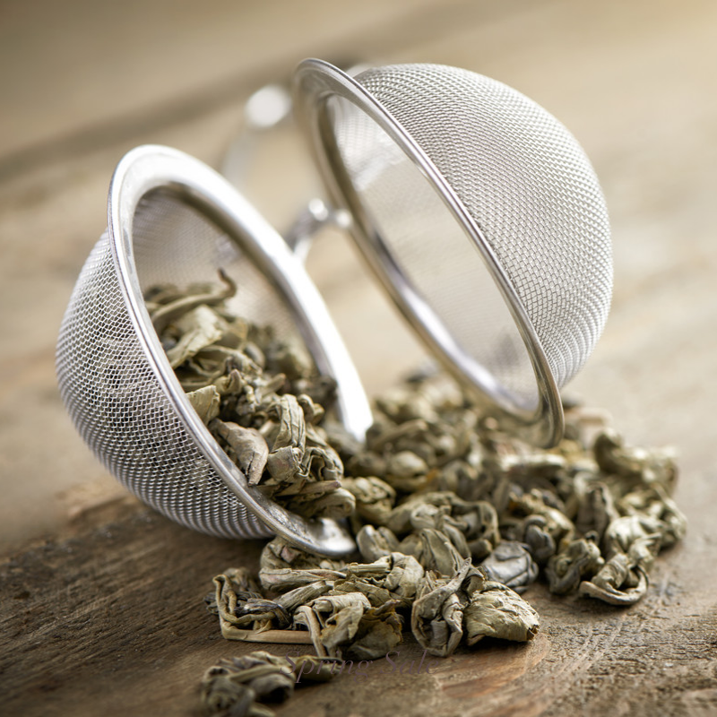 Mesh Stainless Steel Tea Ball With Extended Chain and Hook