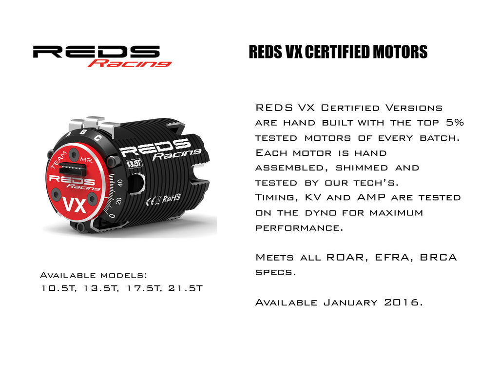 REDS VX 540 CERTIFIED ELECTRIC MOTOR 17.5 - RACERC