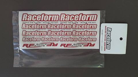 RACEFORM Sticker ( 100mm x 210mm ) - RACERC