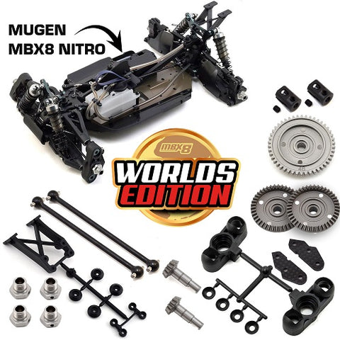 "Mugen Seiki MBX8 ""Worlds Edition"" 1/8 Off-Road Competition Nitro Buggy Kit - RACERC"