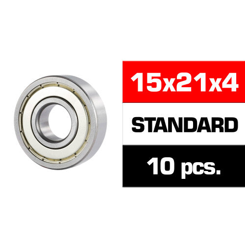 "15x21x4mm ""HS"" METAL SHIELDED BEARING SET (10pcs) - RACERC"