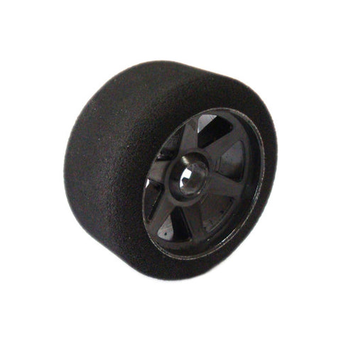 1/8 ON ROAD REAR FOAM TYRES PRE-MOUNTED CARBON WHEEL 35SH. (2pcs)