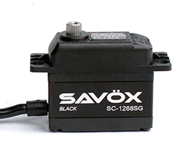 Savox SC-1268SG Black Edition High Torque Steel Gear Servo (High Voltage) - RACERC