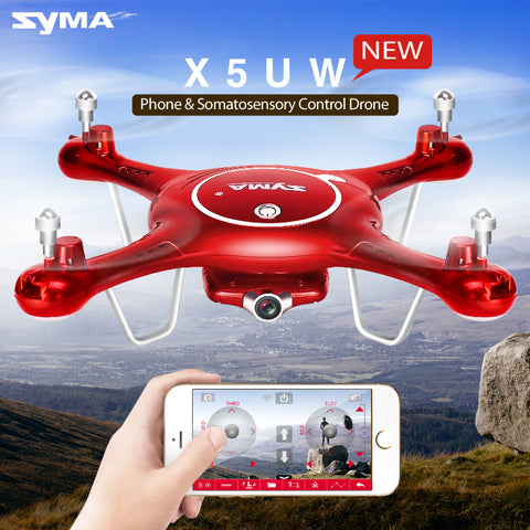 Syma X5UW Wifi FPV 720P HD Camera Quadcopter Drone with Flight Plan Route App Control & Altitude Hold Function - RACERC