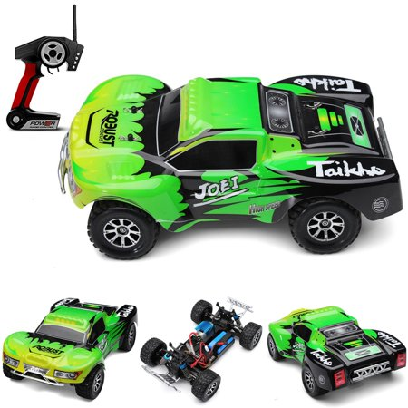 Wltoys A969 Rc Car 1/18 2.4Gh 4WD Short Course Truck - Green/Orange - RACERC