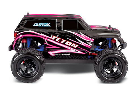 Traxxas LaTrax Teton 1/18 4WD RTR Monster Truck (Pink) w/2.4GHz Radio, Battery & AC Charger